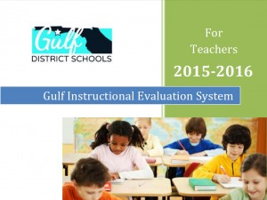 Teacher Evaluation 2015-16 Cover Page